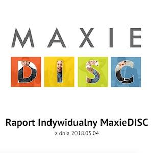Indywidualny raport Maxie DISC wraz z sesją objaśniającą
